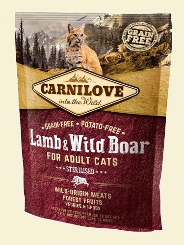 CARNILOVE CAT LAMB&WILD BOAR STERILISED 400g