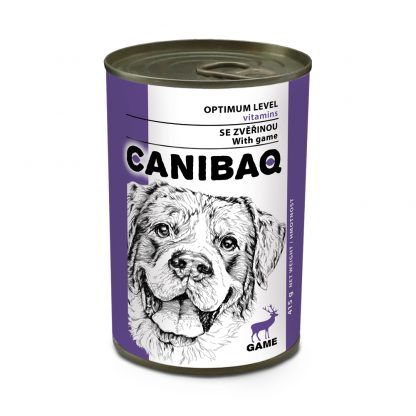 CANIBAQ Classic konserwa dla psa - dziczyzna 415g