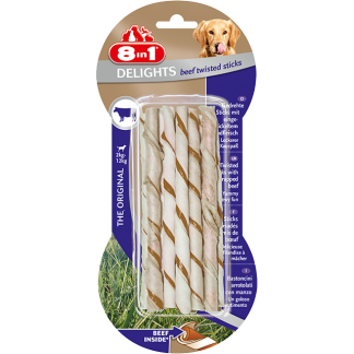 8in1 Przysmak Delights Beef Twisted Sticks [T122500] 10 szt.