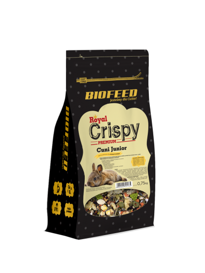 BIOFEED Royal Crispy Premium Cuni Junior 750g - dla młodych królików