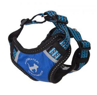 ALL FOR CATS Sportowe szelki Niebieski XS dla kota