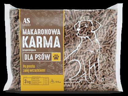 AS BABUNI Makaronowa karma dla psów 3kg