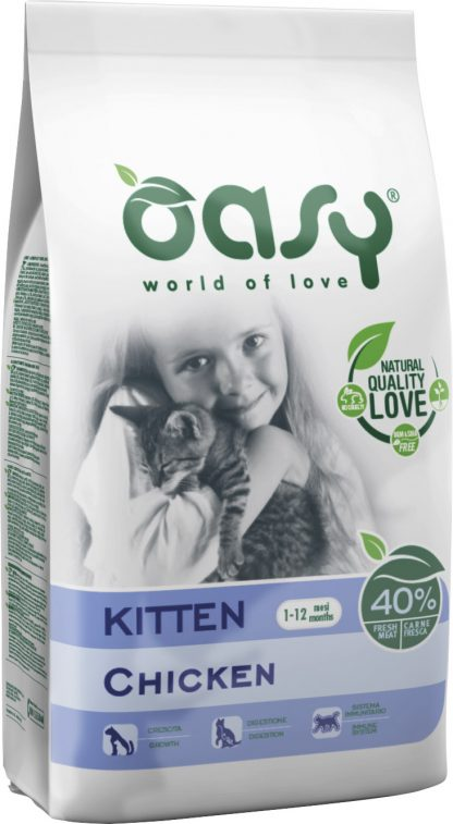 OASY DRY CAT Kitten - Kurczak 300 g