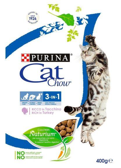 PURINA CAT CHOW SPECIAL CARE 3w1 Bogata w indyka 400g