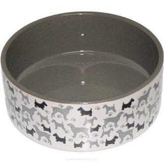 YARRO Miska ceramiczna dla psa Psy 16x6cm [Y2714]