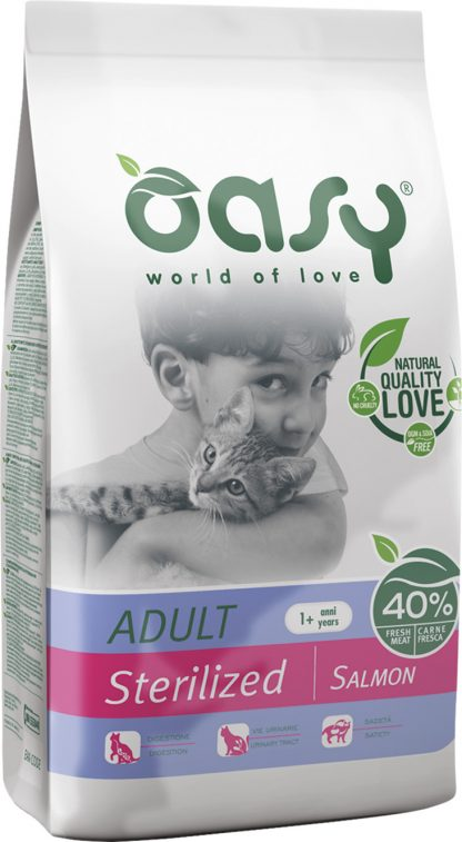 OASY DRY CAT Sterilized - Łosoś 1