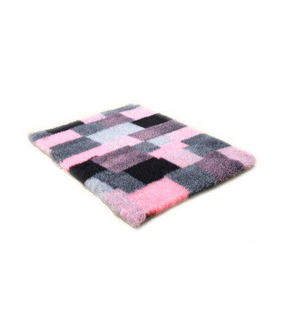 CANIFEL DryBed Posłanie (100x75) Patchwork Szaro Różowy