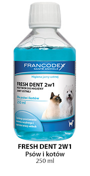 FRANCODEX PL Fresh dent - płyn do higieny jamy ustnej dla psów i kotów 250 ml [FR179120]