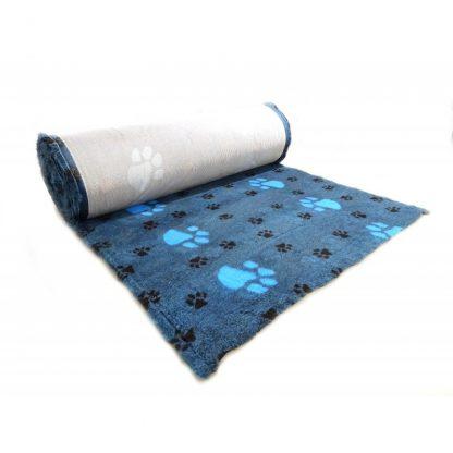 CANIFEL DryBed Posłanie (75x50) Small Paw Grafitowo Morski