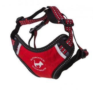 ALL FOR CATS Sportowe szelki Czerwone S dla kota
