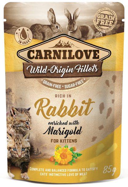 CARNILOVE CAT POUCH KITTEN RABBIT WITH MARIGOLD GRAIN-FREE 85g