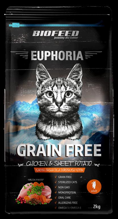 BIOFEED Euphoria ADULT CAT Grain Free Chicken&Potato 2kg