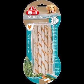 8in1 Przysmak Delights Pro Dental Twisted Sticks [T122531] 10 szt.