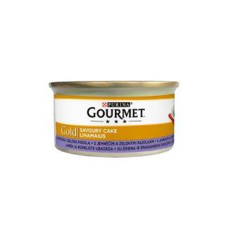 GOURMET GOLD - Savoury Cake z jagnięciną i zieloną fasolą 85g