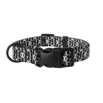 CHABA Obroża regulowana Fashion - 25-60cm Czarna