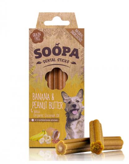 SOOPA Dental STICKS Banana&Peanut Butter 100g