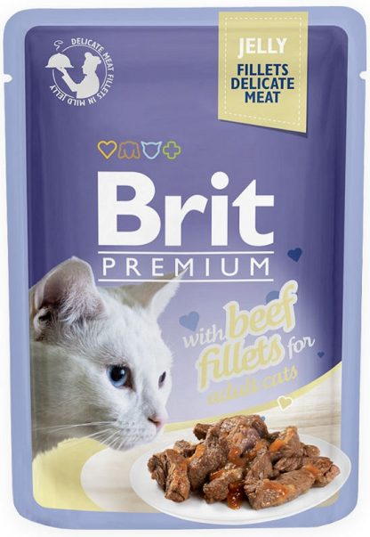 BRIT POUCH JELLY FILLETS WITH BEEF 85 g