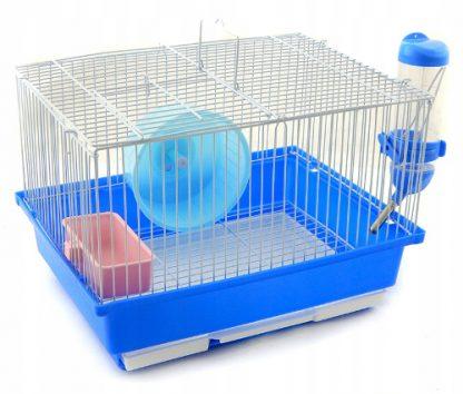 PANAMA PET Klatka dla gryzoni 30x23x20cm biało/niebieska [PP-50613]