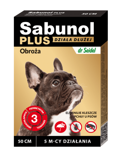 SABUNOL PLUS obroża przeciw pchłom i kleszczom dla psa 50 cm