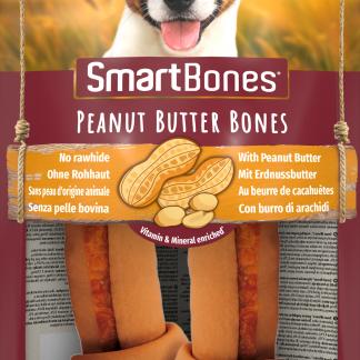 SMARTBONES Peanut Butter Bones Medium 2szt. [T027217]
