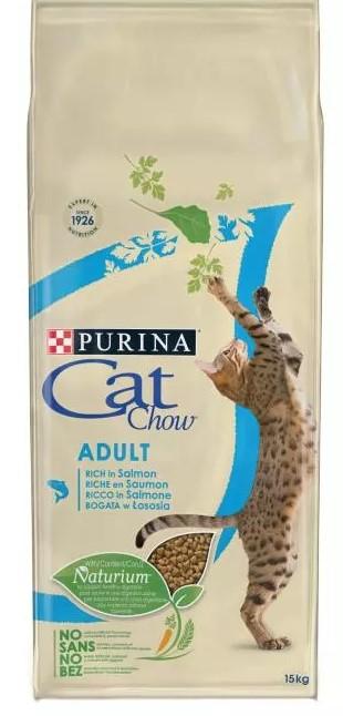 PURINA CAT CHOW ADULT Bogata w łososia 15kg
