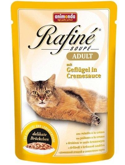 ANIMONDA Rafiné Soupé Adult saszetka z drobiem w sosie kremowym 100 g