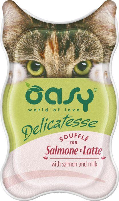 OASY DELICATESSE Soufflè - Łosoś i mleko 85 g