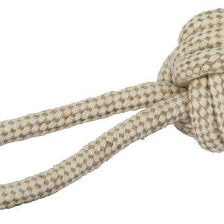 KERBL Zabawka piłka na sznurze z juty