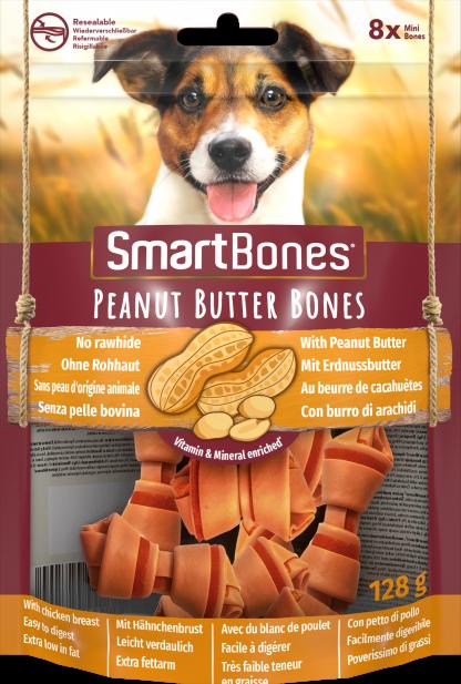 SMARTBONES Peanut Butter Bones Mini 8szt. [T027200]