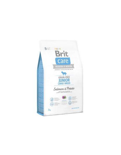 BRIT CARE GRAIN-FREE JUNIOR LARGE BREED SALMON & POTATO 3 kg
