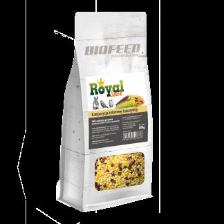 BIOFEED Royal Snack - kolorowa kukurydza 400g