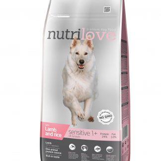 NUTRILOVE Premium dla psa SENSITIVE z jagnieciną i ryżem 12kg [11489]