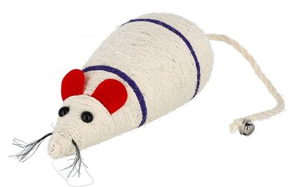 KERBL Zabawka mysz sizalowa