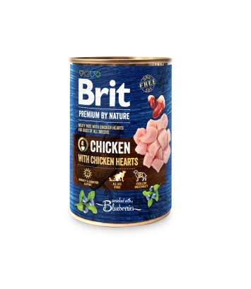 BRIT Premium By Nature Puszka Kurczak z Sercami 400g
