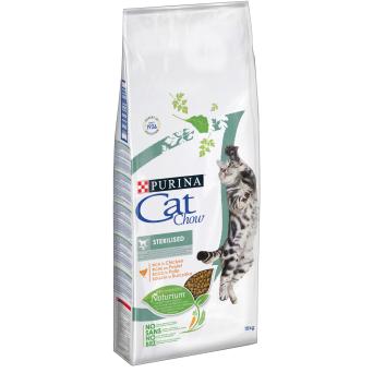 PURINA CAT CHOW SPECIAL CARE Sterilized Bogata w kurczaka 12kg + 3kg gratis
