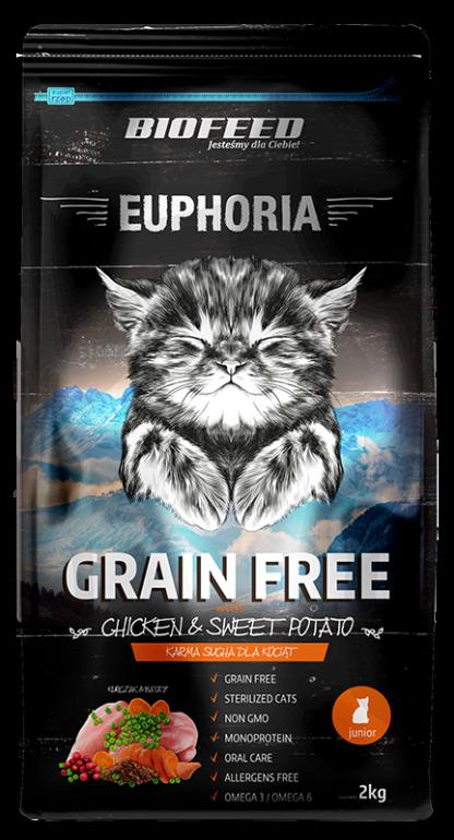BIOFEED Euphoria JUNIOR CAT Grain Free Chicken&Potato 2kg