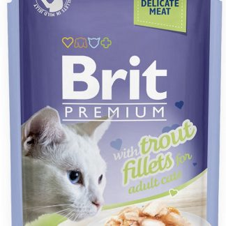 BRIT POUCH JELLY FILLETS WITH TROUT 85 g