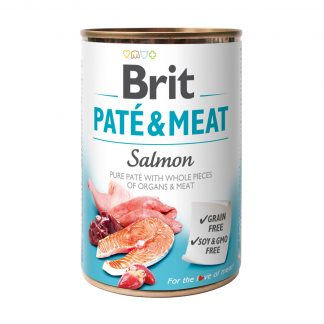 BRIT PATE & MEAT SALMON 400 g