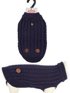 ZOLUX Sweterek Dandy z guzikami S40 granatowy [411466BLE]