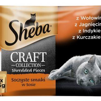 SHEBA Saszetki Craft Soczyste Smaki  4*85g [394837]
