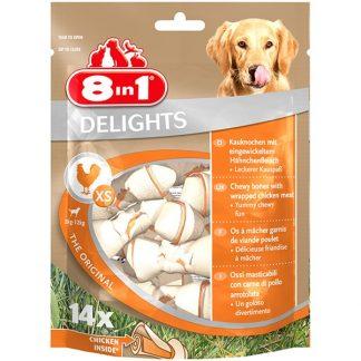 8in1 Przysmak Delights Bones XS [T122364] 14 szt.