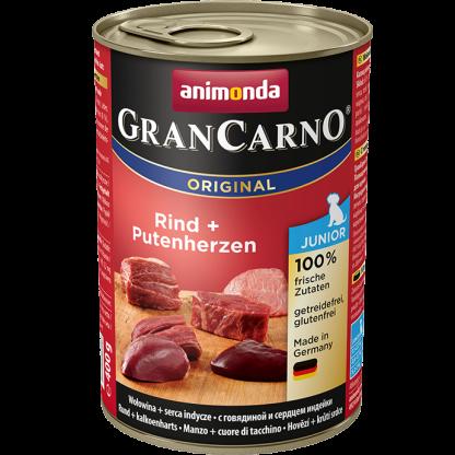 ANIMONDA GranCarno Orginal Junior puszki wołowina serca indycze 400 g