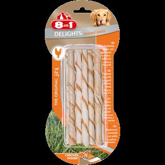 8in1 Przysmak Delights Twisted Sticks [T122470] 10 szt.