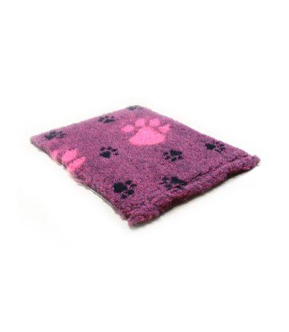 CANIFEL DryBed Posłanie (75x50)  Big Paws  Różowo Czarny