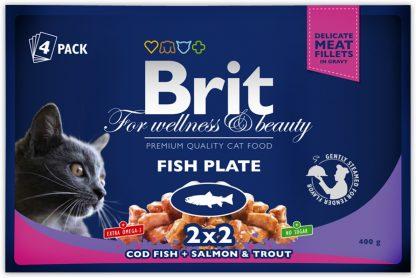 BRIT POUCHES FISH PLATE (4x100g) 400 g