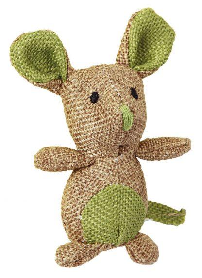 KERBL Zabawka mysz z naturalnego lnu