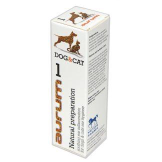 AURUM 1 - Naturalny preparat łagodzący stan zapalny ucha psów i kotów 30ml.