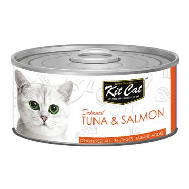 KIT CAT TUNA & SALMON (tuńczyk z łososiem) 80g