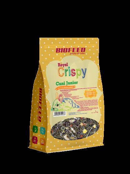 BIOFEED Royal Crispy Cuni Junior 1kg - dla młodych królików