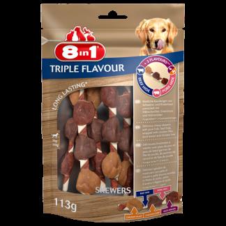 8in1 Przysmak Triple Flavour Skewers [T144632] 6 szt.